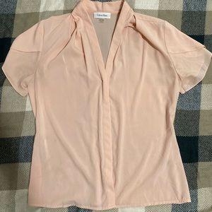 Calvin Klein blush pink blouse